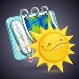 Rolig vädersymbol Arkivfoto