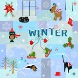 Rolig vinterbakgrund Arkivbilder