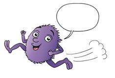 Rolig violett varelsespring för tecknad film Royaltyfri Bild
