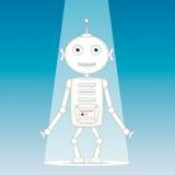 Rolig vit robot Arkivbilder