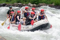 rolig whitewater Royaltyfria Bilder