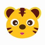 Rolig zoo av den gulliga tigern Royaltyfri Foto