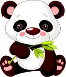 Rolig zoo. Panda Arkivfoto