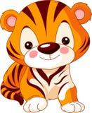 Rolig zoo. Tiger Arkivbild