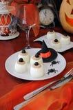 Roliga ögonägg på Halloween Arkivbild