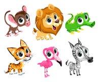 Roliga afrikanska djur vektor illustrationer