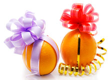 roliga apelsiner Royaltyfri Bild