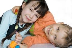 roliga barn fotografering för bildbyråer