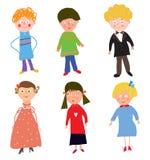 Roliga barnpojkar och flickor Arkivfoton