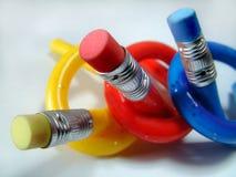 roliga blyertspennor Royaltyfri Bild