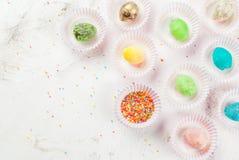 Roliga chokladsötsaker för påsk Royaltyfria Bilder