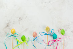 Roliga chokladsötsaker för påsk Fotografering för Bildbyråer