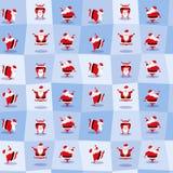 Roliga dansa Santa Claus i gullig tecknad filmstil Seamless bakgrund också vektor för coreldrawillustration Royaltyfri Foto