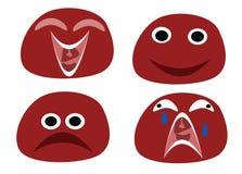 roliga emoticons Arkivfoto