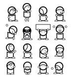 roliga emoticons royaltyfri illustrationer