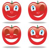 Roliga emoticons från tomater Royaltyfri Foto
