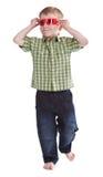 roliga exponeringsglas för pojke som 3d har slitage Royaltyfria Bilder