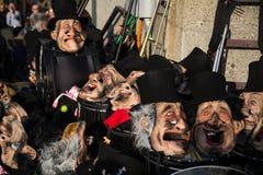 roliga feriemaskeringar för karneval Arkivfoton