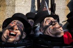 roliga feriemaskeringar för karneval Arkivfoto