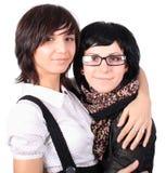 roliga flickor två Arkivfoton