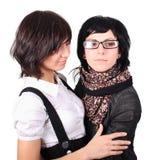 roliga flickor två Arkivbilder
