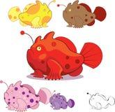 Roliga frogfishes Arkivfoto