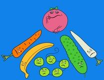 roliga grönsaker Royaltyfri Fotografi