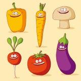 roliga grönsaker Arkivfoton