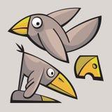 Roliga gulliga fåglar Royaltyfria Foton