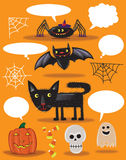roliga halloween vektor illustrationer