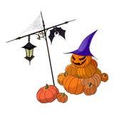 roliga halloween pumpor Royaltyfri Bild