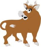 roliga horns för tjur royaltyfri illustrationer