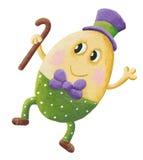 Roliga Humpty Dumpty med hatten Arkivbild