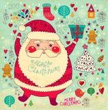 Roliga Jultomte Fotografering för Bildbyråer