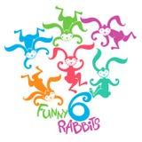 roliga kaniner Arkivbilder