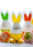Roliga kaniner för påsk Royaltyfria Bilder