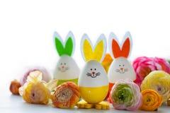 Roliga kaniner för påsk Royaltyfria Foton