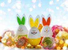 Roliga kaniner för påsk Arkivfoto