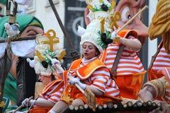 Roliga karnevaldräkter, Belgien Arkivbilder