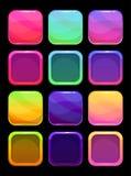 Roliga ljusa färgrika uibeståndsdelar Arkivfoto