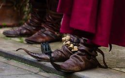 Roliga medioeval skor Fotografering för Bildbyråer