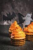 Roliga muffin för allhelgonaafton Fotografering för Bildbyråer