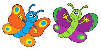roliga par för fjärilar Arkivbild