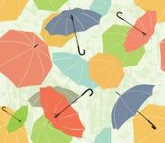 Roliga paraplyer Arkivfoto