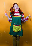Roliga Pippi Fotografering för Bildbyråer