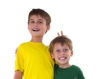 Roliga pojkar Royaltyfria Bilder