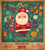 Roliga Santa Claus Arkivbilder