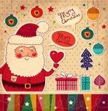 Roliga Santa Claus Royaltyfri Bild