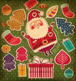 Roliga Santa Claus Royaltyfria Bilder