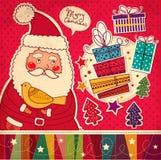 Roliga Santa Claus Arkivfoton